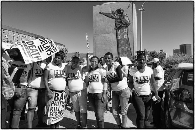 Picture of protest by Treatment Action Campagin in Cape Town 2014 by Louis Reynolds