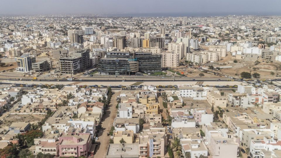 Luftaufnahme Dakar