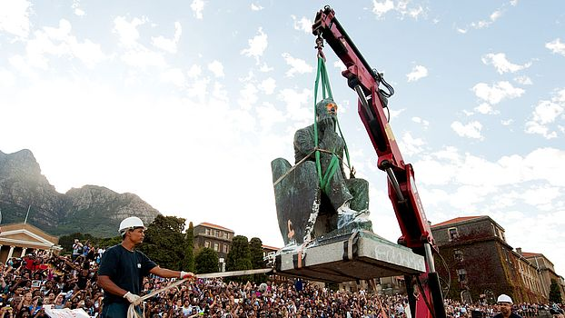 Removal of Rhodes statue at UCT
