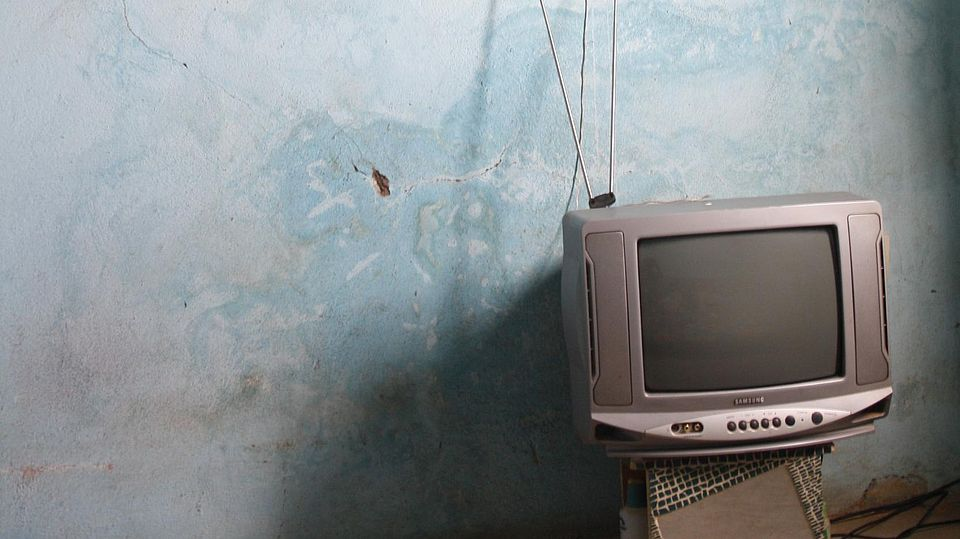 tv in empty room