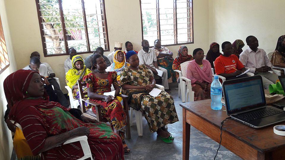 Wartesaal Spital Tanzania