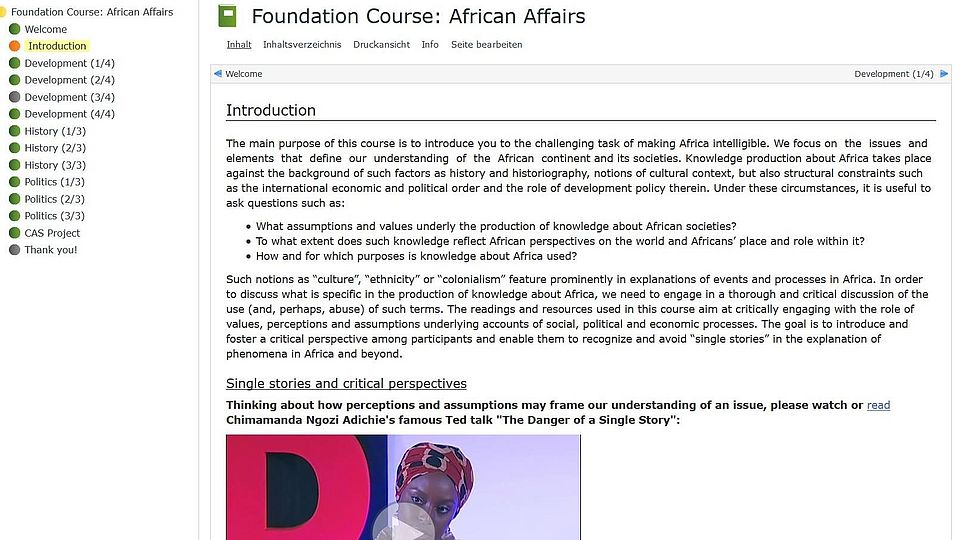 Snapshot: Foundation course