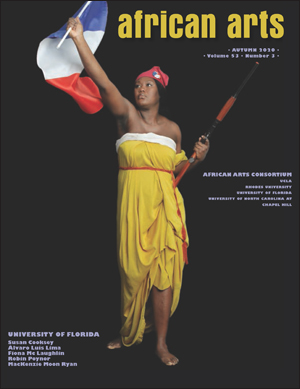 cover of african arts